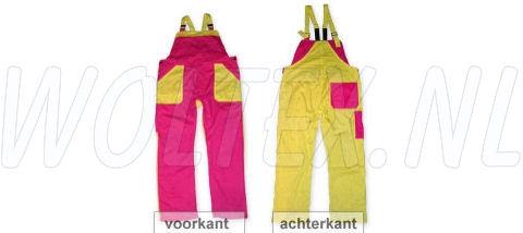 Noname Am. Overalls TB26535 fuchsia roze-geel