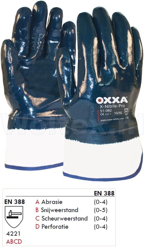 OXXA Handschoenen X-Nitrile-Pro 51-082 donkerblauw-wit