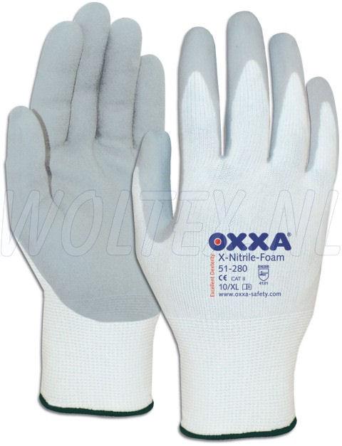 OXXA Werkhandschoenen X-Nitrile-Foam 51-280 wit-grijs