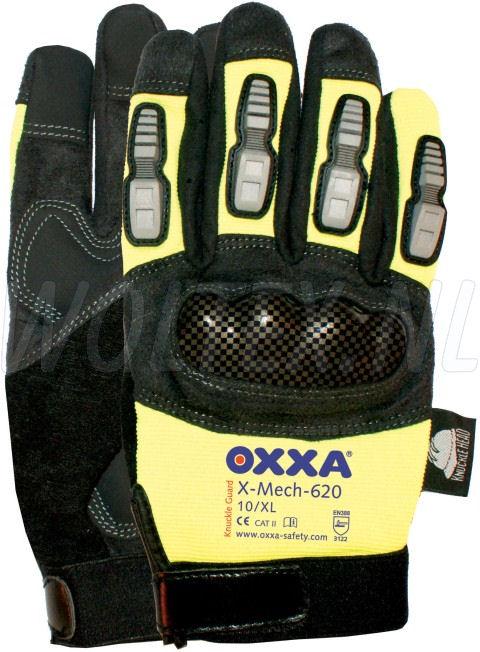 OXXA Werkhandschoenen X-Mechanics knokkel 630 fluo geel-zwart