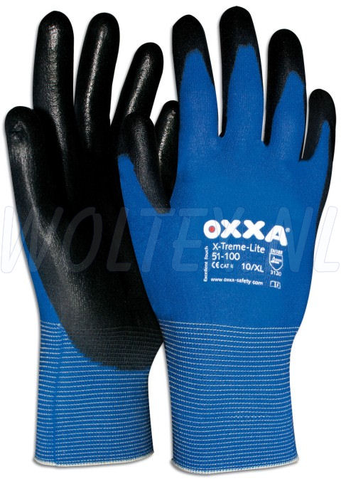 OXXA Werkhandschoenen X-Treme-Lite blauw-zwart