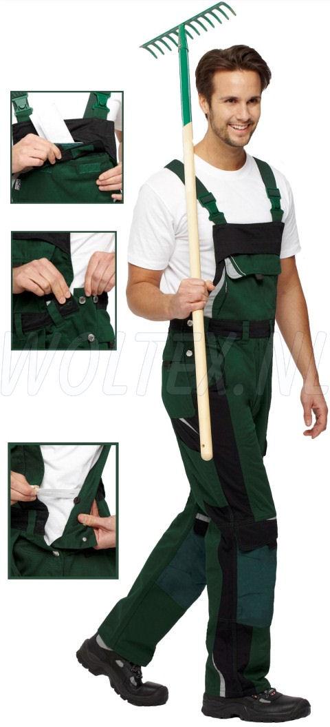 PKA Am. overalls Bestwork New groen