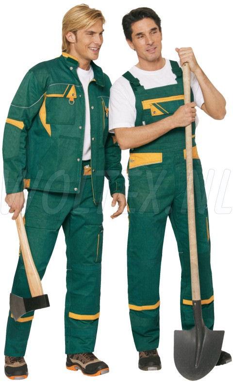 PKA Am. Overalls Threeline De Luxe groen/geel