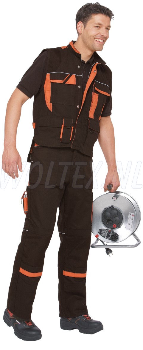 PKA Vesten Threeline De Luxe zwart/oranje