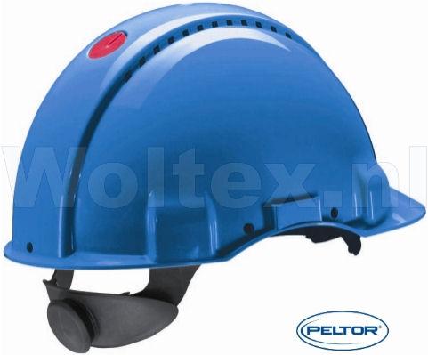 3M Peltor Veiligheidshelmen G3000DUV ABS UV- sensor Ventilatie Omkeerbaar binnenwerk blauw