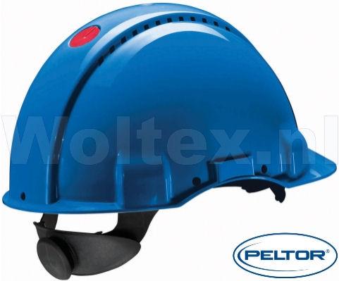 3M Peltor Veiligheidshelmen G3000NUV ABS UV- sensor Ventilatie Omkeerbaar binnenwerk blauw