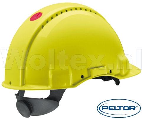 3M Peltor Veiligheidshelmen G3000NUV ABS UV- sensor Ventilatie Omkeerbaar binnenwerk fluo-geel