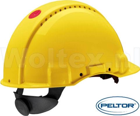 3M Peltor Helmen G3000NUV ABS UV- sensor Ventilatie Omkeerbaar binnenwerk geel