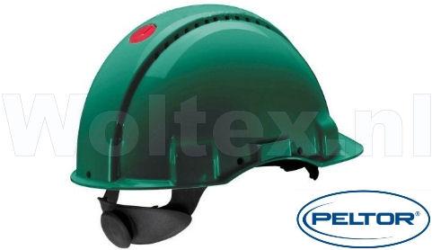 3M Peltor Veiligheidshelmen G3000NUV ABS UV- sensor Ventilatie Omkeerbaar binnenwerk groen