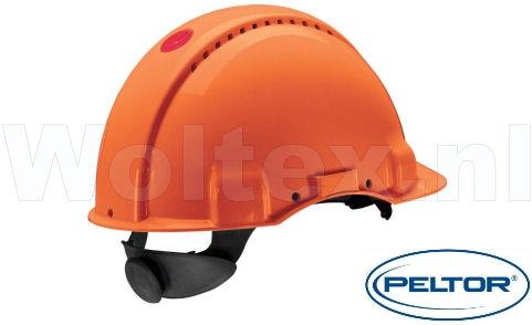3M Peltor Helmen G3000NUV ABS UV- sensor Ventilatie Omkeerbaar binnenwerk oranje