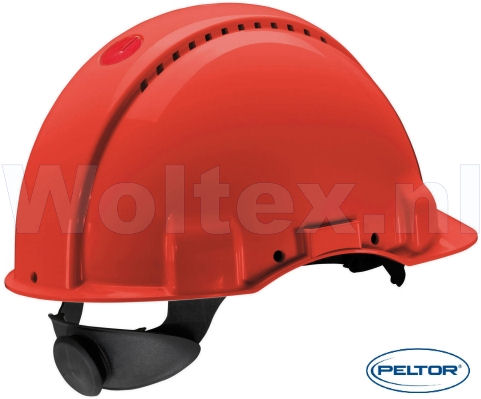 3M Peltor Veiligheidshelmen G3000NUV ABS UV- sensor Ventilatie Omkeerbaar binnenwerk rood