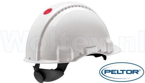 3M Peltor Veiligheidshelmen G3000NUV ABS UV- sensor Ventilatie Omkeerbaar binnenwerk wit