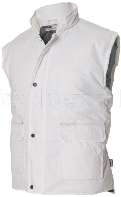 Tricorp Casual Bodywarmers 401001-BW160 Drukknopen Polyester- katoen wit(White)