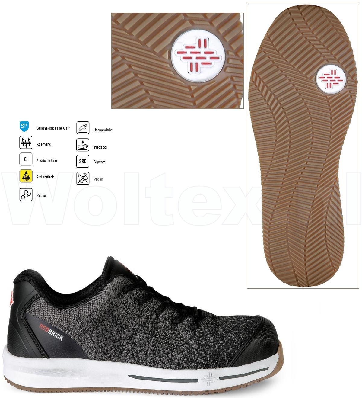 Werkschoenen Dames Beveiliging.Redbrick Safety Sneakers Motion S1p Esd Werkschoenen Agile