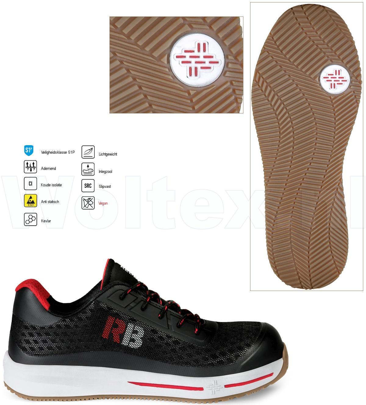 Werkschoenen Met Witte Zool.Redbrick Safety Sneakers Motion S1p Esd Werkschoenen Sierra