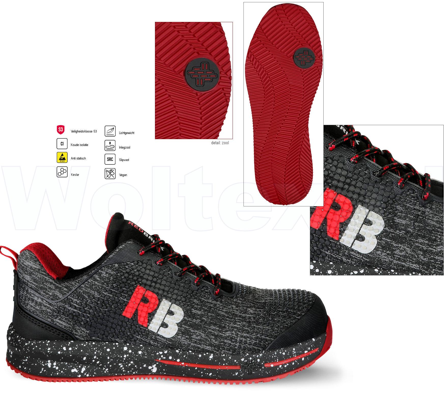 Lichte Werkschoenen.Redbrick Safety Sneakers Motion S3 Esd Werkschoenen Superb
