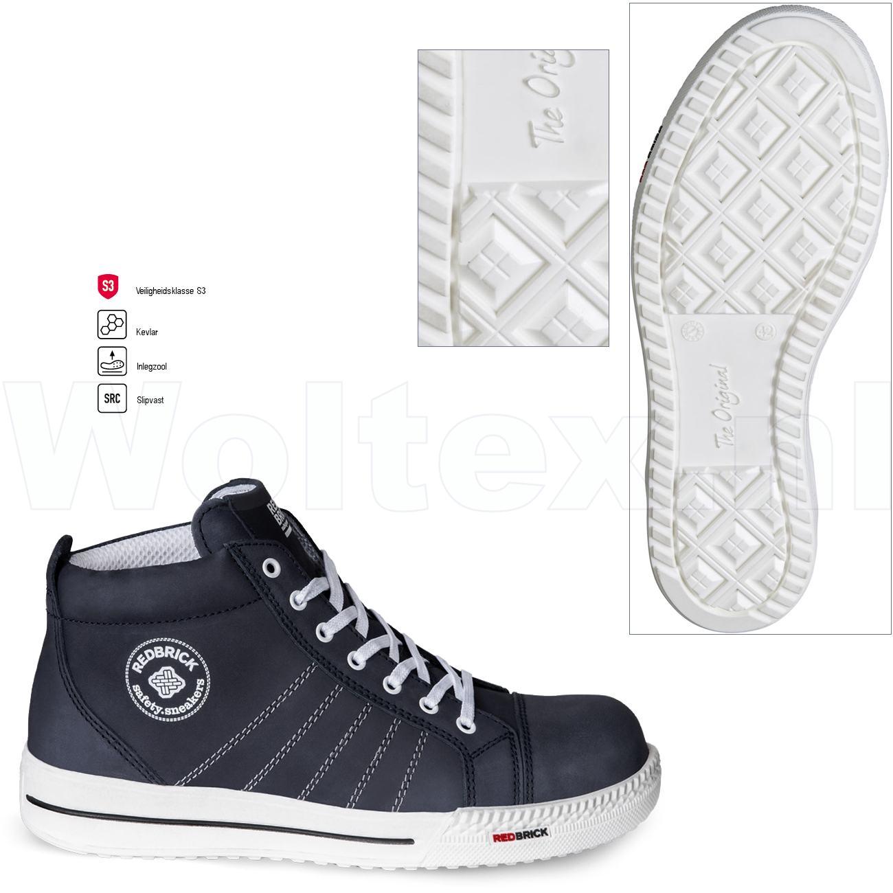 Witte Werkschoenen.Redbrick Safety Sneakers Originals S3 Werkschoenen Azure Donkerblauw 42