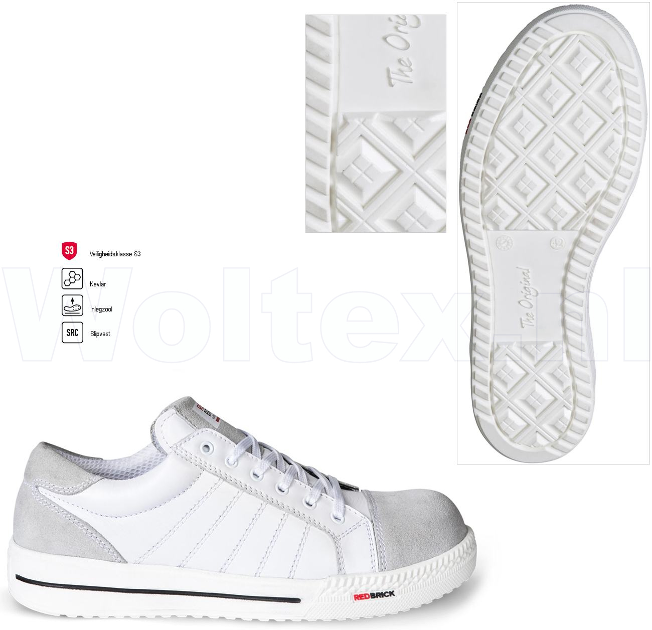 Safety Werkschoenen.Redbrick Safety Sneakers Originals S3 Werkschoenen Branco Wit 39