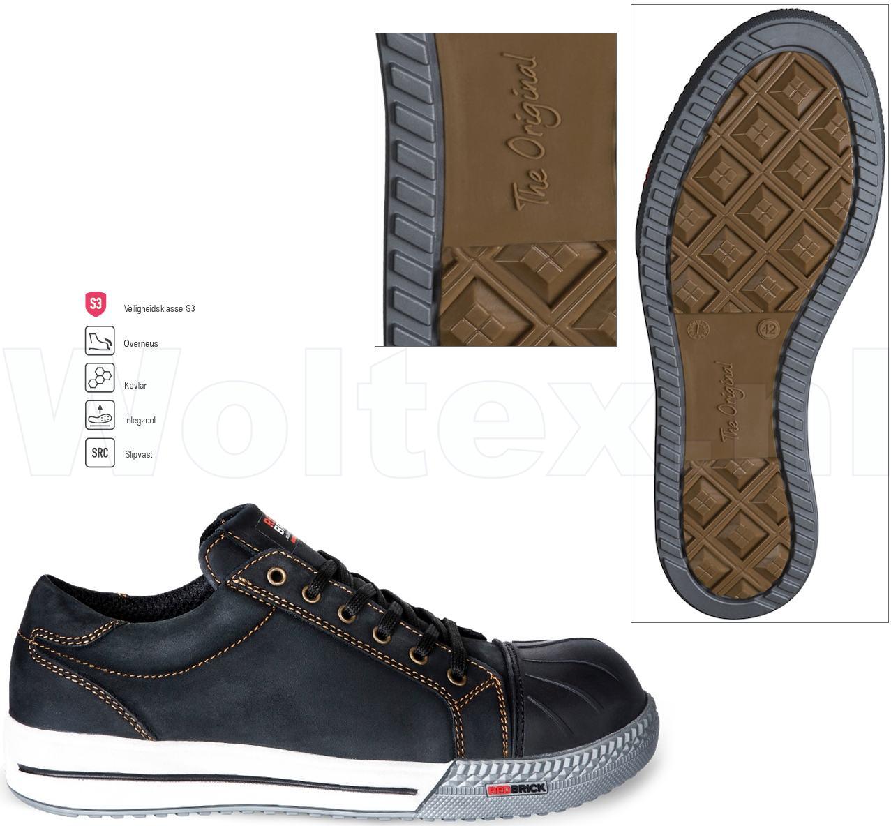 Modieuze Werkschoenen.Redbrick Safety Sneakers Originals S3 Werkschoenen Flint Overneus