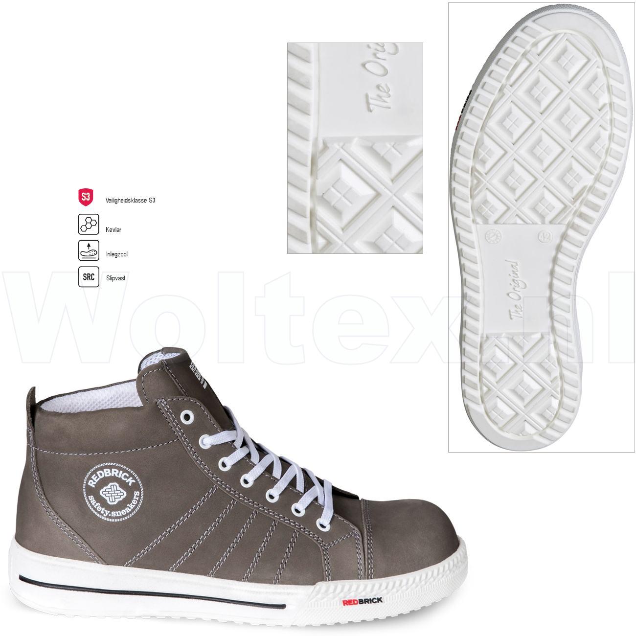 Redbrick Dames Werkschoenen.Redbrick Safety Sneakers Originals S3 Werkschoenen Jesper Taupe 39