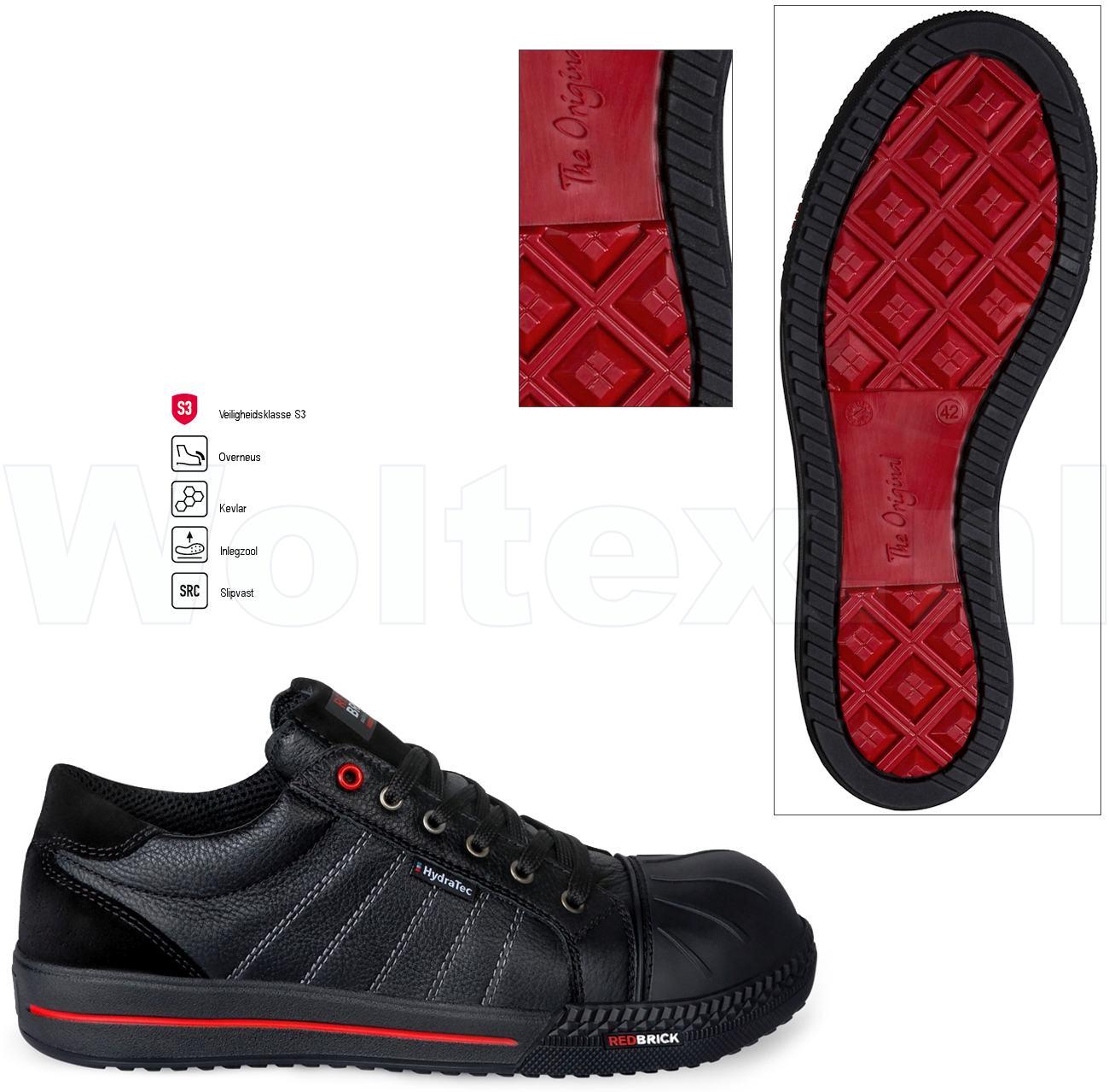 Werkschoenen Sneakers S3.Redbrick Safety Sneakers Originals S3 Werkschoenen Ruby Overneus