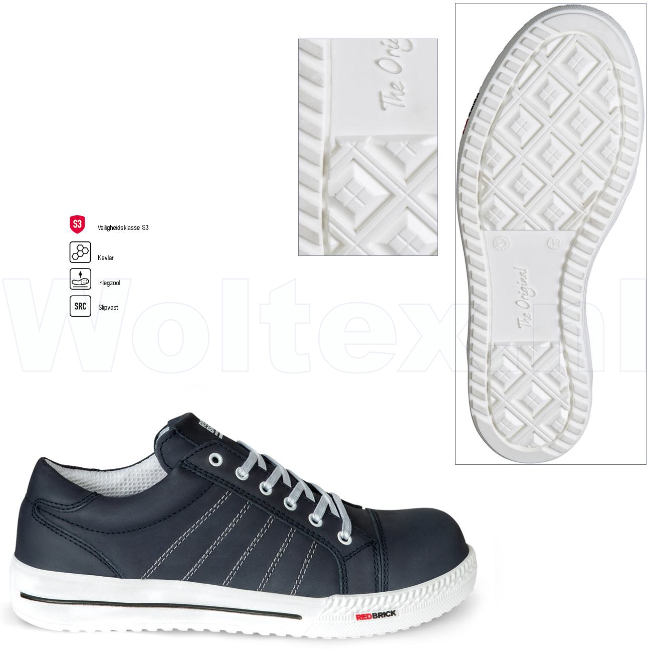 Modieuze Werkschoenen.Redbrick Safety Sneakers Originals S3 Werkschoenen Saphire Donkerblauw