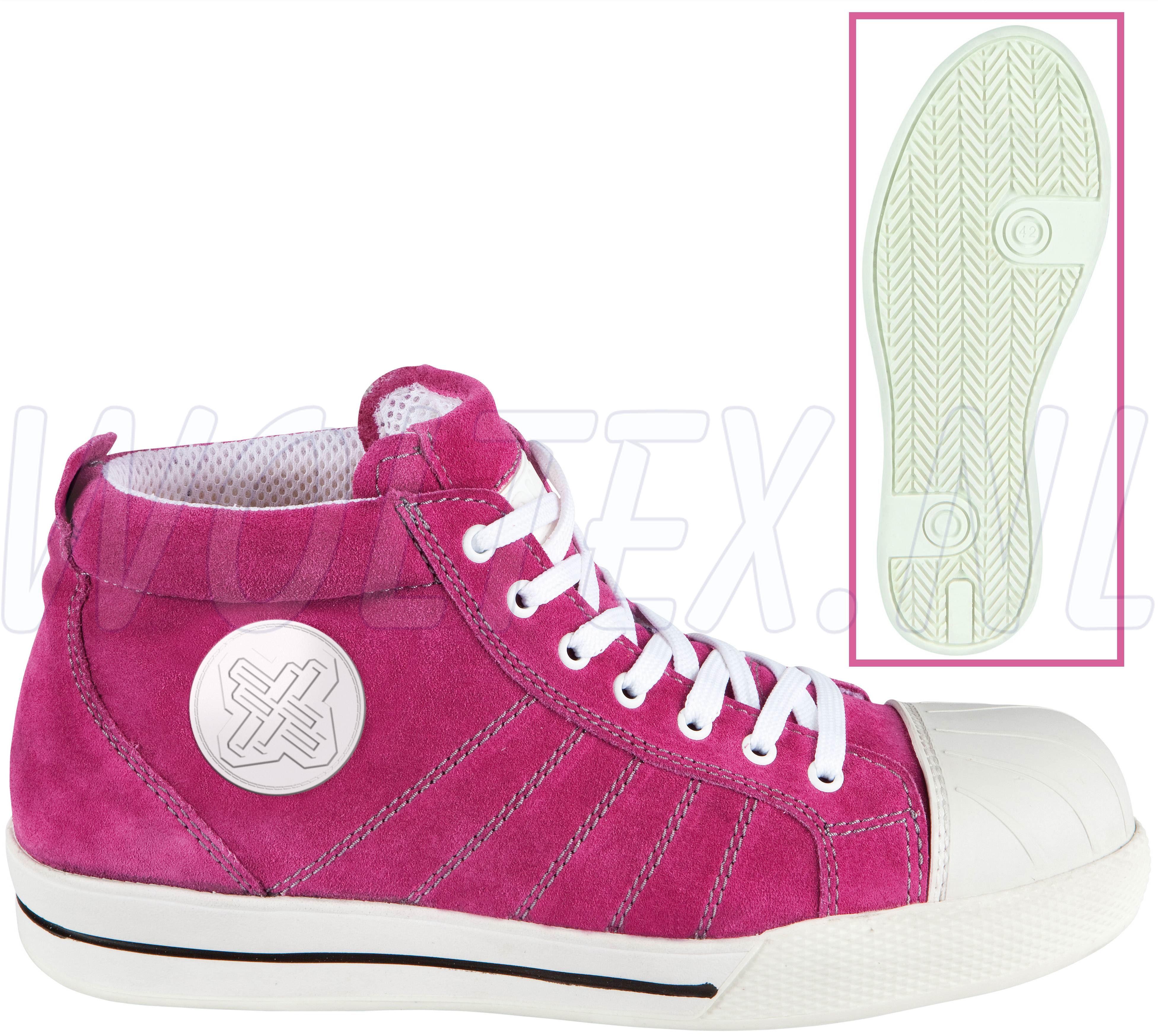 Werkschoenen Met Witte Zool.Redbrick Safety Sneakers S1p Werkschoenen Hoog Pink Veilige Neus