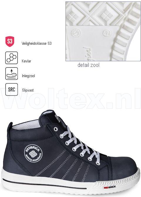 Werkschoenen 36.Redbrick Safety Sneakers Originals S3 Werkschoenen Azure Donkerblauw 36