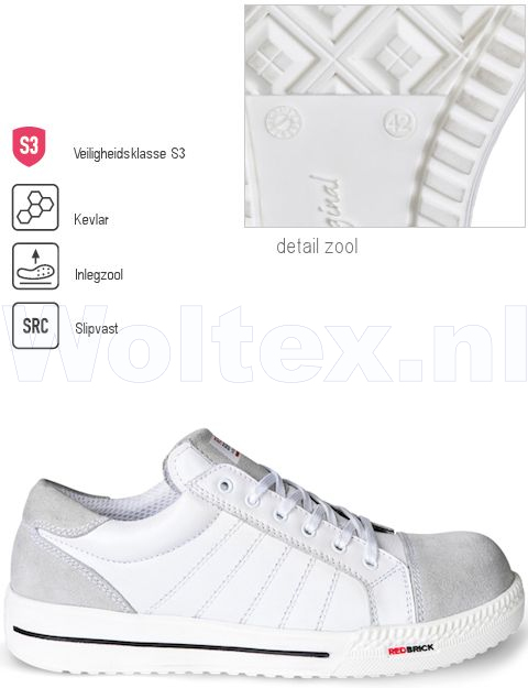 Redbrick Safety Sneakers Originals S3 Werkschoenen Branco wit