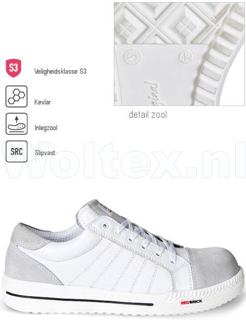 Werkschoenen 36.Redbrick Safety Sneakers Originals S3 Werkschoenen Branco Wit 36