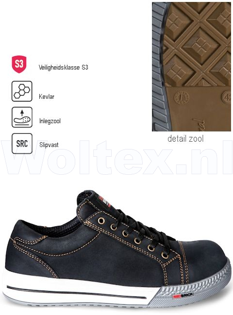 Redbrick Safety Sneakers Originals S3 Werkschoenen Bronze zwart