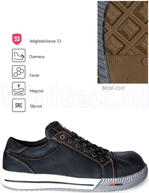 Redbrick Safety Sneakers Originals Schoenen Flint Overneus zwart