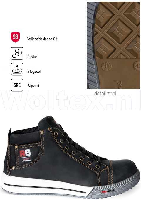 Redbrick Safety Sneakers Originals S3 Werkschoenen Gold zwart