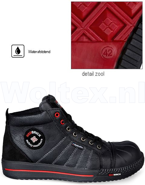 Redbrick Safety Sneakers Originals Schoenen Onyx Hydratec Waterafstotend Overneus zwart