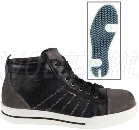 Redbrick Safety Sneakers S3 Werkschoenen- hoog Granite Veilige neus- zool zwart-grijs
