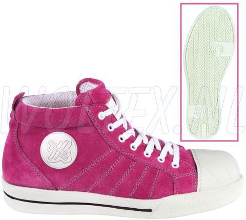Redbrick Safety Sneakers S1P Werkschoenen- hoog Pink Veilige neus- zool Overneus roze