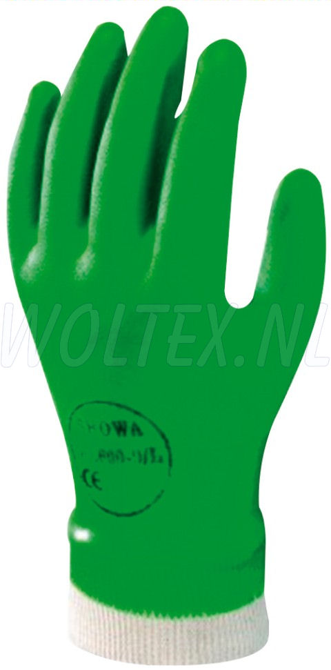 Showa Werkhandschoenen 600 PVC groen