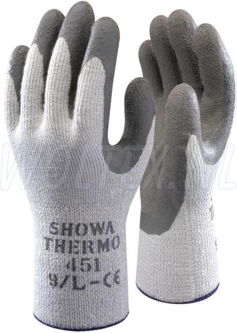 Showa Werkhandschoenen 451 thermogrip Kunststof-winter grijs