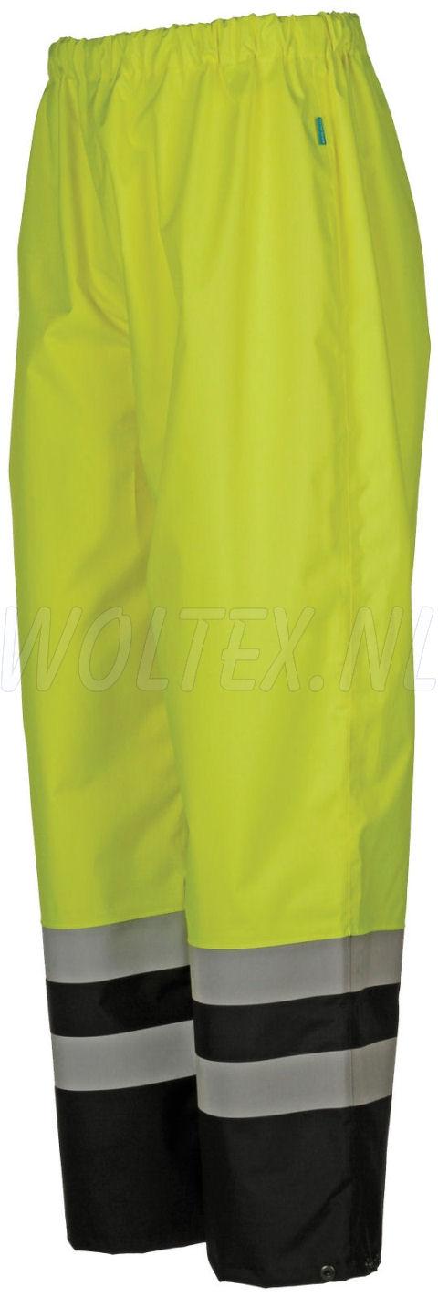 Sioen Regenbroeken Norvill  fluo geel-donkerblauw