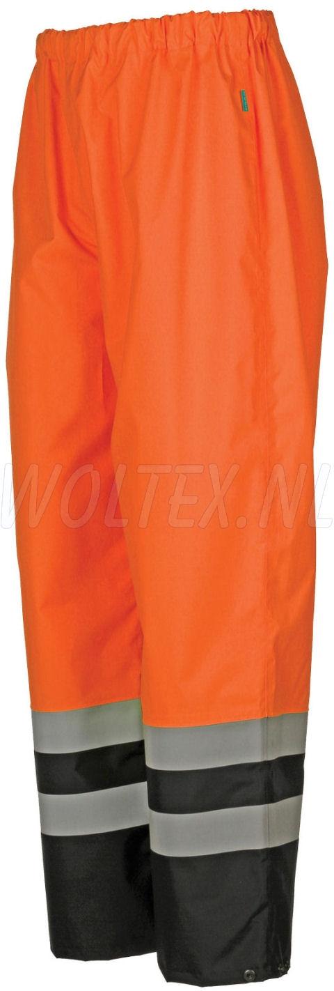 Sioen Regenbroeken Norvill Polyester- PU Waterdicht Ademend fluo oranje-donkerblauw