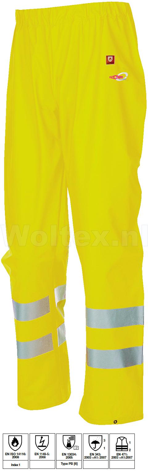 Sioen Regenbroeken Greeley  fluo-geel