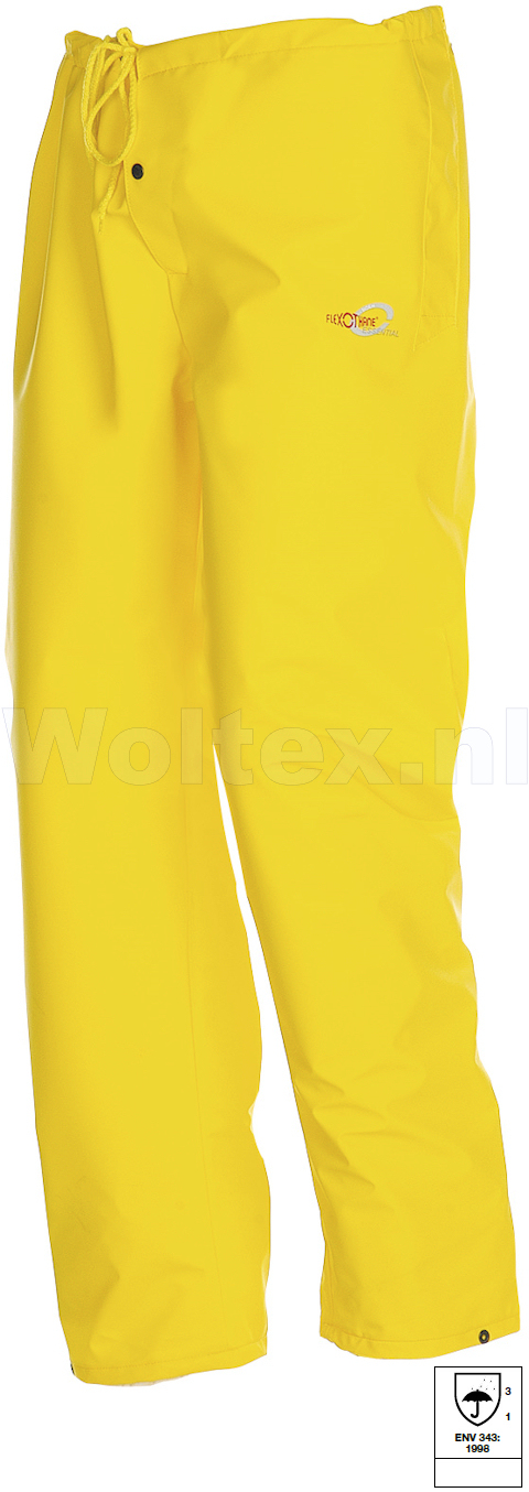 Sioen Regenbroeken Surakarta Polyester- PU stretch geel