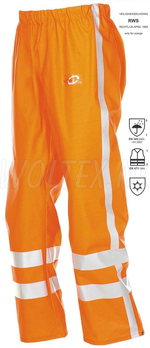 Sioen Regenbroeken Batur Polyester- PU stretch fluo-oranje