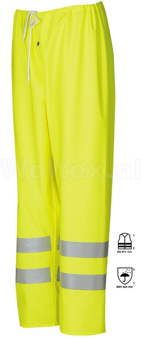 Sioen Regenbroeken Arlon Polyester- PU stretch fluo-geel