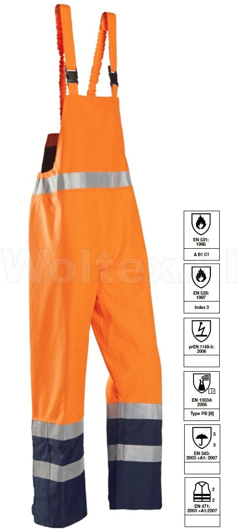 Sioen Amerikaanse regenoveralls Brisbane Polyester- PU fluo-oranje