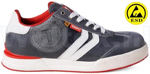 Too\'l Safety Sneakers S3 Werkschoenen- laag Cloud Veilige neus- zool ESD- antistatisch grijs-rood