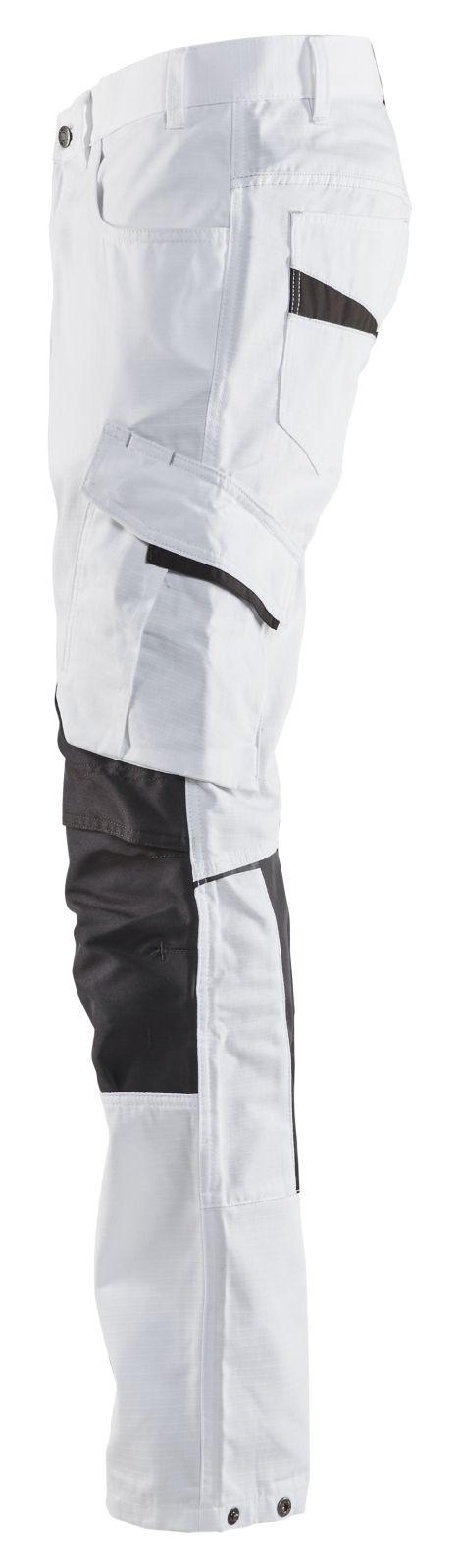 Blaklader Broeken 10951330 met Stretch wit-donkergrijs(1098)