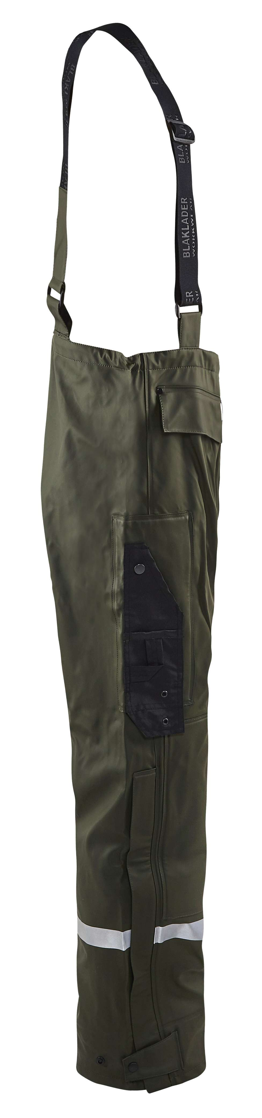 Blaklader Regenbroeken 13022003 High Vis army groen(4600)