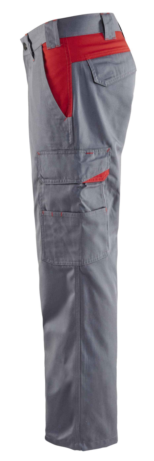 Blaklader Broeken 14041800 grijs-rood(9456)