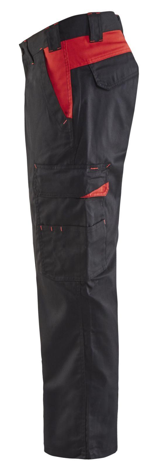 Blaklader Broeken 14041800 zwart-rood(9956)
